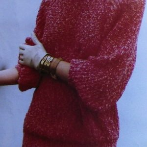 Rib Stitch Pullover - Worsted Yarn - Size L, XL, 2X - Knitting Pattern