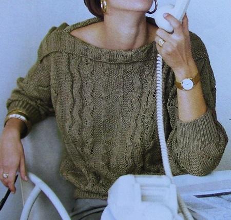 Summer Pullover Boatneck Sizes M, L, XL - 3 Ply DK Yarn - Cotton Knitting Pattern