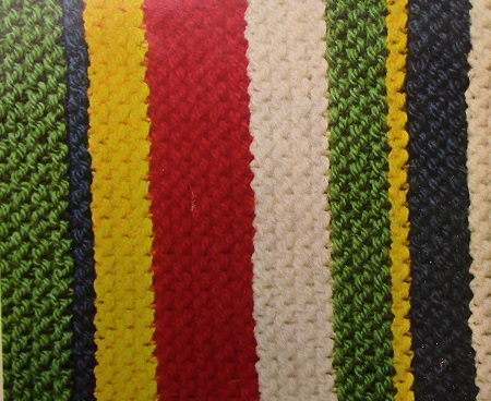 Garter Afghan and Cushions Knitting Pattern Beginner Level Chunky Yarn
