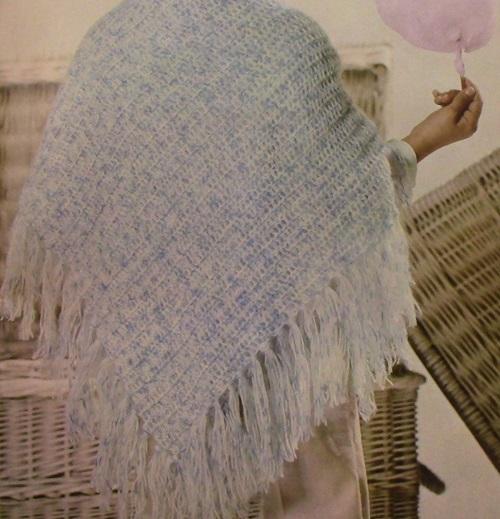 Light weight Yarn Shawl Double Crochet Pattern
