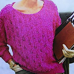 Lace Stitch Sweater Sizes M, L, XL - DK Yarn - Knitting Pattern