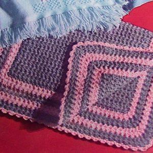 "Bulky Yarn Baby Afghan 26"" x 34"" Free Crochet Pattern"