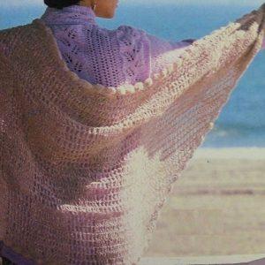 Triangle Shawl Vintage Crochet Pattern Easy
