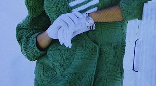 Double Breast Cardigan - Size M - 3 Ply DK Yarn -Knitting Pattern