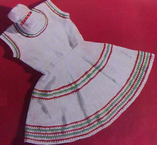 Dress Size 3 Knitting Pattern Sock Fingering Yarn
