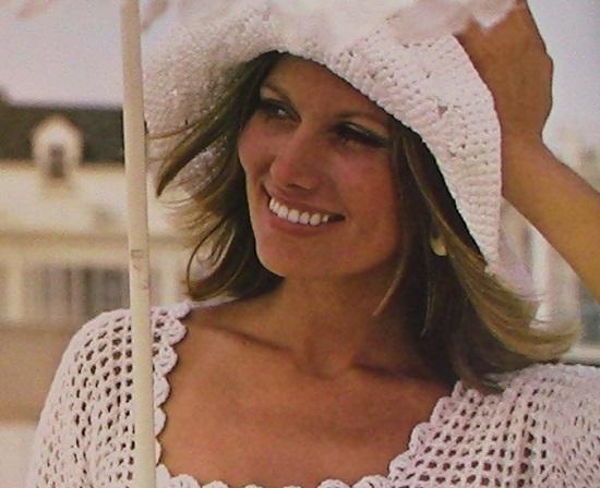 Floppy Brimmed Crochet Summer Hat Pattern Vintage DK Yarn