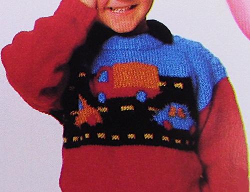 Freeway Sweater For Kids - 3 Ply DK Yarn - Knitting Pattern