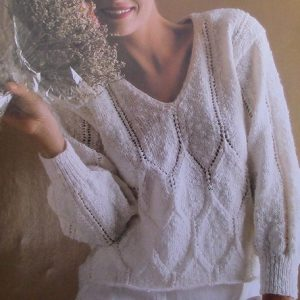 Gem Pullover Knitting Pattern - 3 Ply DK Yarn - Sizes S, M, L