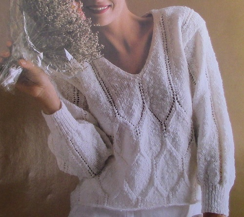 Gem Pullover Knitting Pattern - 3 Ply DK Yarn - Sizes S, M, L