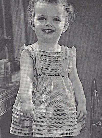 Girls Summer Dress Fingering Yarn Sizes 2 and 3 Crochet Pattern