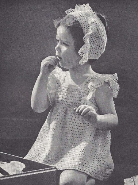 Girls Summer Dress Fingering Yarn Crochet Pattern