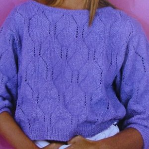 Hexagon Stitch Summer To Size L, XL - DK Yarn - Knitting Pattern