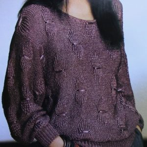 Pullover - Sizes M, L - Worsted 4 Ply Yarn - Knitting Pattern