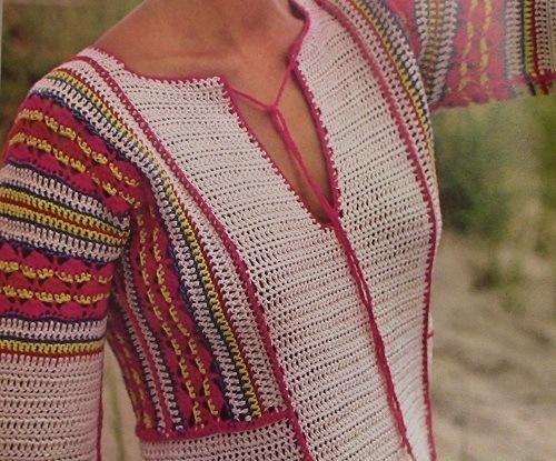 Long Summer Dress With Contrasting Edging Sport 2 Ply Yarn Crochet Pattern