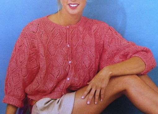 Coral Summer Cardigan - Size L, XL - 3 Ply DK Yarn - Knitting Pattern