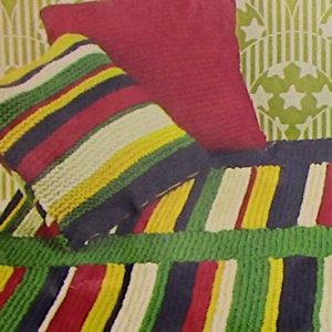Chunky Yarn Blanket Cushions Knitting Pattern Beginner