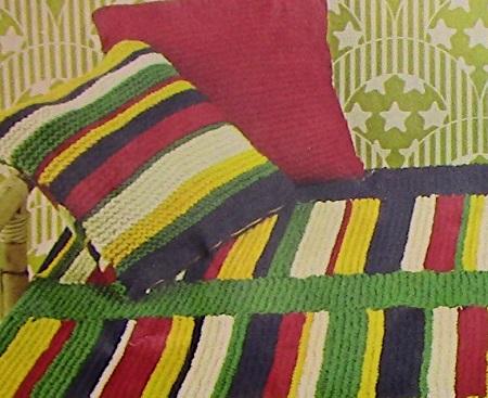 Chunky Yarn Blanket Cushions Knitting Pattern Beginner