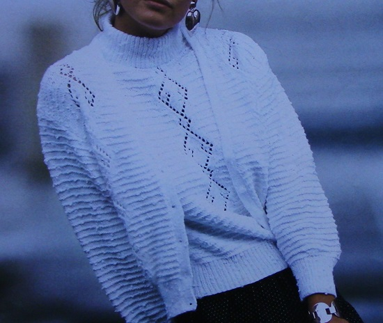 Vintage Knitting Pattern - Summer Top and Jacket - - Sizes S, M, L - DK 3 Ply Yarn