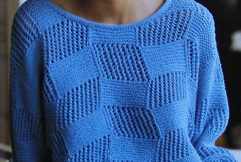 Lacy Women's Pullover Size M, L - Knitting Pattern DK Yarn