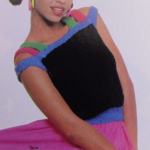 Women's Summer Crop Top - Sizes S, M, L - 4 Ply Worsted Yarn - Knitting Pattern