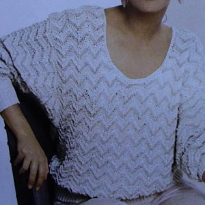 Ripple Stitch Pullover DK Yarn Vintage Knitting Pattern