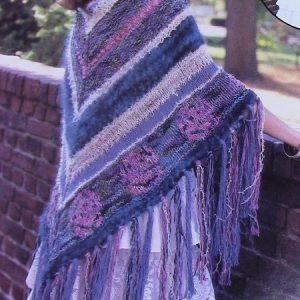Flower Shawl - Large Size - 5 Ply Bulky Yarn - Knitting Pattern Intermediate