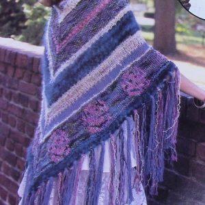 Flower Shawl - Large Size - 5 Ply Bulky Yarn - Knitting Pattern Intermediate