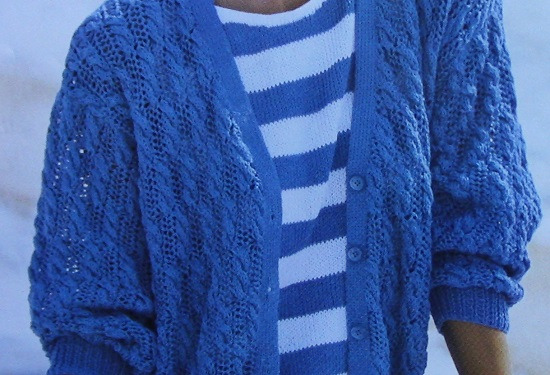 Summer Breeze Cardigan DK Yarn Size M/L Knitting Pattern