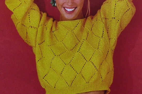 Summer Spring Sweater 4 Ply Worsted Yarn Knitting Pattern
