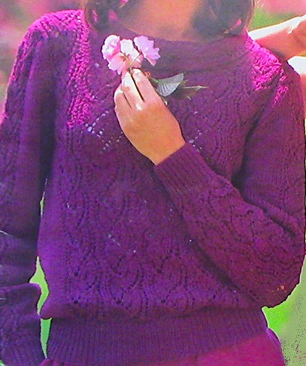 Lace Leaf Pullover DK 3 Ply Yan Knitting Pattern