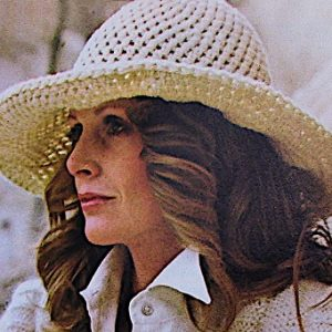 Wide Brimmed Hat Worsted Yarn One Size Summer Crochet Pattern