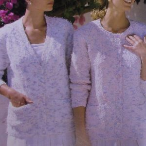 Classic Cardigan 2 Styles - Sizes XS to XL - 3 Ply Yarn - Knitting Pattern