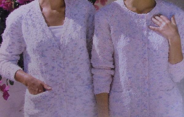 Classic Cardigan 2 Styles - Sizes XS, S, M, L, XL - DK Yarn - Knitting Pattern
