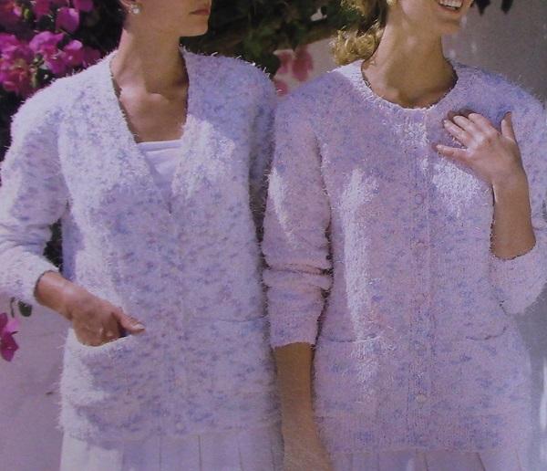 Classic Cardigan 2 Styles - Sizes XS to XL - 3 Ply Yarn - Knitting Pattern