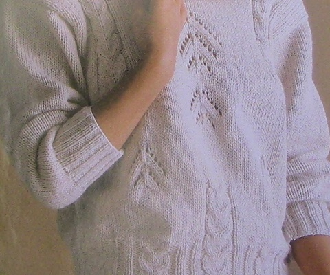 Women's Top Stockinette, Cable, Lace Stitches - Knitted - Worsted Yarn 4 Ply - Sizes M, L, XL -Knitting Pattern