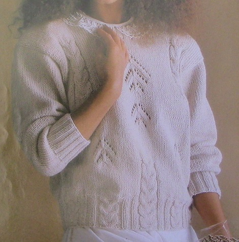 Women's Sweater Knitted - Worsted Yarn 4 Ply - Sizes M, L, XL -Knitting Pattern