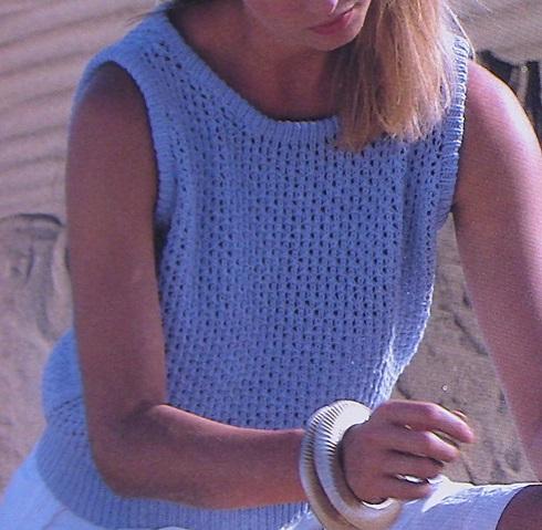 Summer Tank Top - Sizes XS, S, M, L, XL - DK Yarn 3 Ply - Knitting Pattern