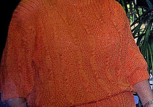 Women's r Pullover in Cable, Seed Stitches, Boatneck - Sizes M, L, XL - 4 Ply Worsted Yarn - Vintage Knitting Pattern