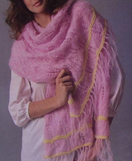 Lacy Scarf, DK 3 Ply Yarn - Knitting Pattern