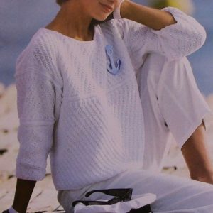 Diagonal Slant Stitch Top - 3 Ply DK Yarn - Sizes S, M, L, XL - Knitting Pattern