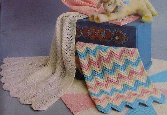 2 Baby Blankets Crochet And Knitting Patterns - Fingering Yarn