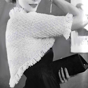 Cropped Top - 4 Ply Yarn - Sizes S, M - Vintage Knitting Pattern