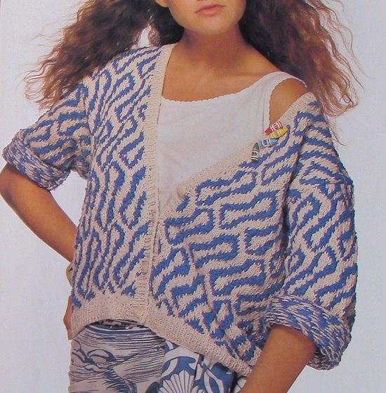 Jacket Knitting Pattern - Sizes S, M, L - DK 3 Ply Yarn