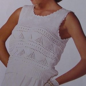 Knitting Pattern -Openwork Stitch Summer Top - DK Yarn 3 Ply - Sizes S, M, L