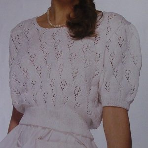 Openwork Stitch Summer Top - Fingering Yarn- Sizes S, M, L - Knitting Pattern