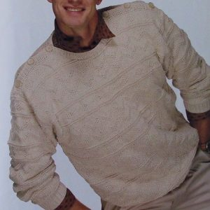 Men's Pullover Texture Stitch - DK Yarn - Sizes S, M, L - Knitting Pattern