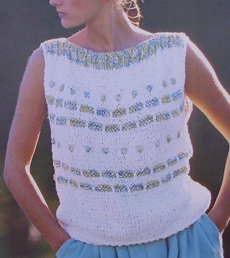 Top - Jacquard Stitch - Sizes M, L - Knitting Pattern