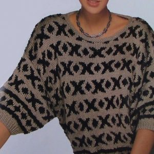 Oversized Pullover Fair-Isle Geometry - Sizes S, M, L - DK Yarn - Knitting Pattern