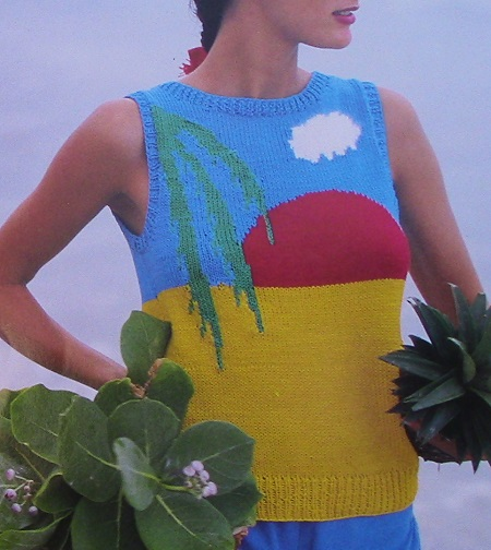 Sun Beach Vest _ Size M - 4 Ply Worsted Yarn - Knitting Pattern