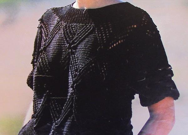 Women's Short Sleeved Pullover, Openwork Bobble Stitches - Sizes S/M, M/ L - DK Yarn - Vintage Knitting Pattern